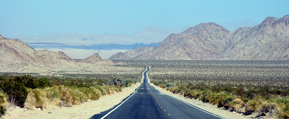 Bicycle ride across the Mojave in June