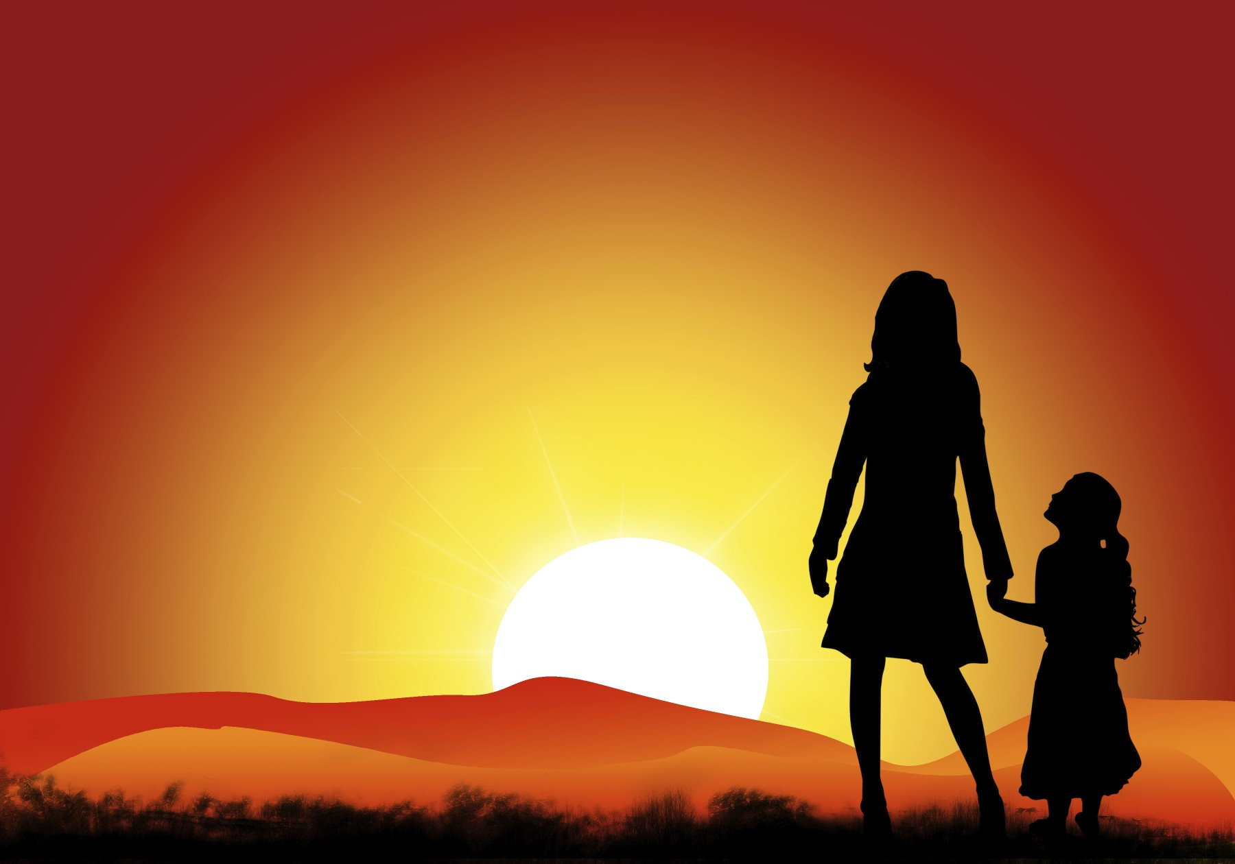mom_daughter_sunset