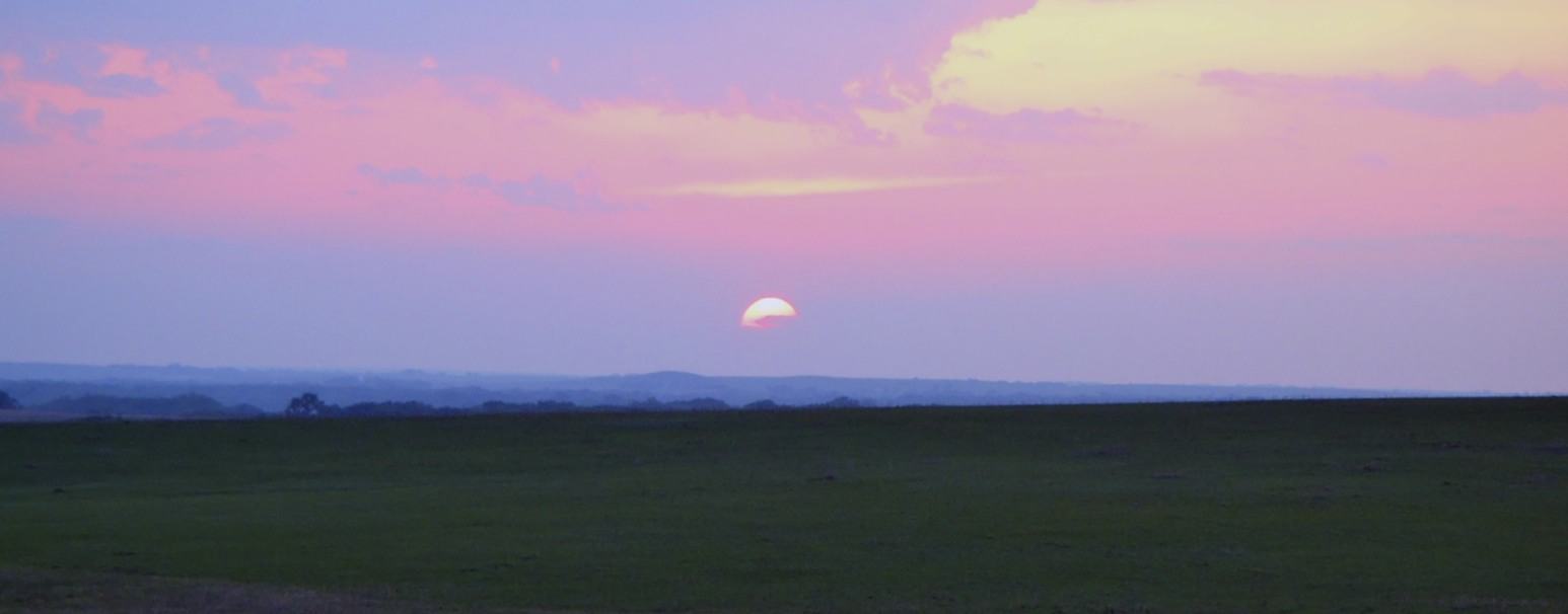 Sun setting on the eastern edge of the Flint Hills yesterdaty